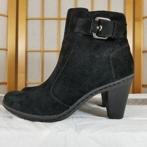 Strictly Comfort Black Suede Booties